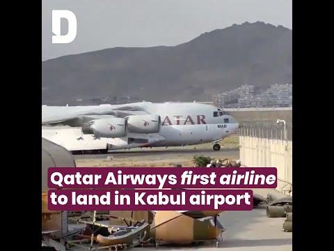 Qatar Airways flight lands in Kabul Airport | Doha News