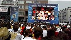 WM 2010 Argentinien-Deutschland Aufstellung Friedensplatz Dortmund