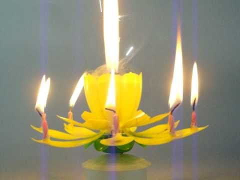 515 Spinning Musical Birthday Flower Candle