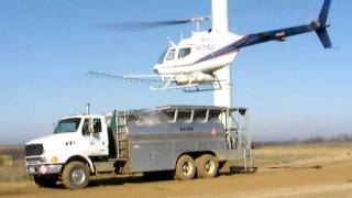 agricultural spraying in helicopter oh 58