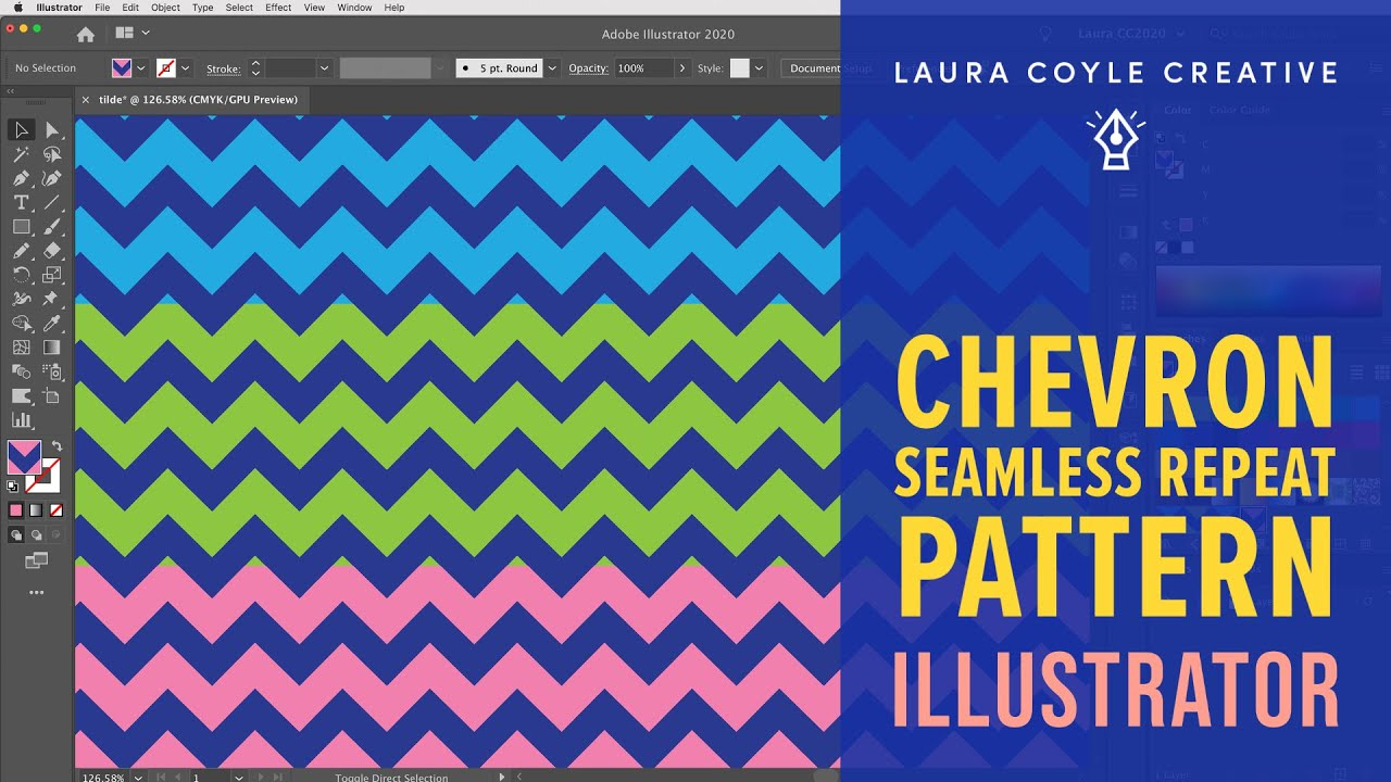 Illustrator tutorial easy chevron pattern cs6 and for How to make a chevron template