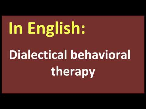 Dialectical behavioral therapy arabic MEANING