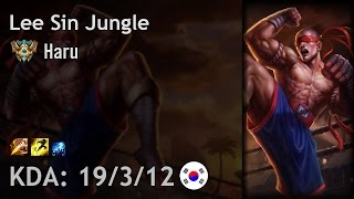 Lee Sin Jungle vs Elise - Haru - KR Challenger Patch 6.24