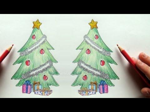 Tannenbaum Zeichnen Weihnachtsbaum Zeichnen Lernen Malen Lernen