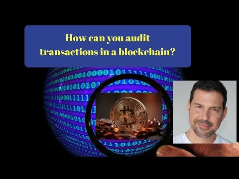 How Can You Audit Transactions in a Blockchain?