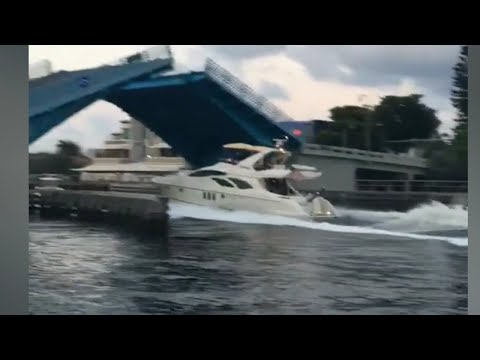 Boat destroys other boats in pompano beach