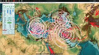 7/28/2018 -- Large Earthquakes strike West Pacific -- W. Coast USA Burning at Volcano + EQ locations