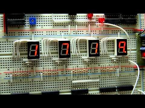 Making [hh/mm] Digital Clock Using Several ICs