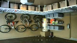 Innovative Garage and Design Company Overhead Garage Rack Storage Video
