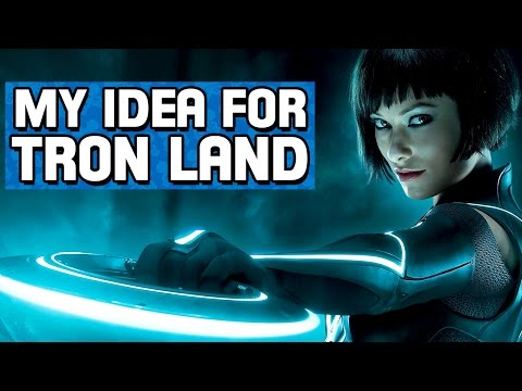 My Idea for Tron Land at Disney World!