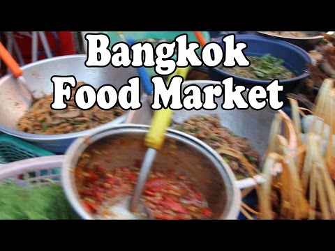 Bangkok Food Market: Thai Street Food & Shopping at Klong Toey Market. ตลาดคลองเตย