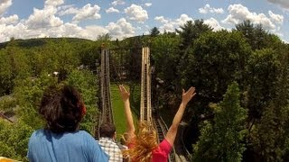 Phoenix Pov Hd Knoebels Amusement Resort Back Seat Roller Coaster On-ride Gopro Woodie