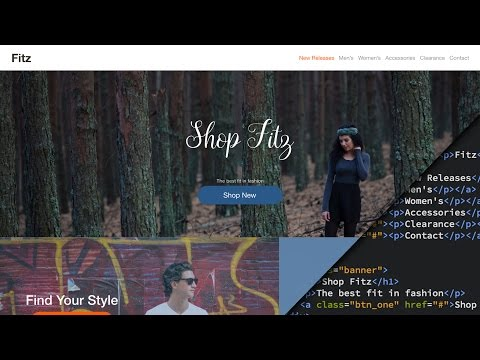 Web Design Speed art + Speed Code - Clothing Store