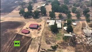 Toma aérea refleja la devastación en Australia por los incendios