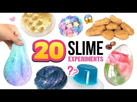 20 AMAZING DIY SLIMES!!! Mixing CRAZY THINGS Into Clear Slime / Water Slime! Satisfying Slime ASMR