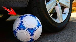 Crushing Crunchy & Soft Things by Car! EXPERIMENT CAR vs FOOTBALL BALL
