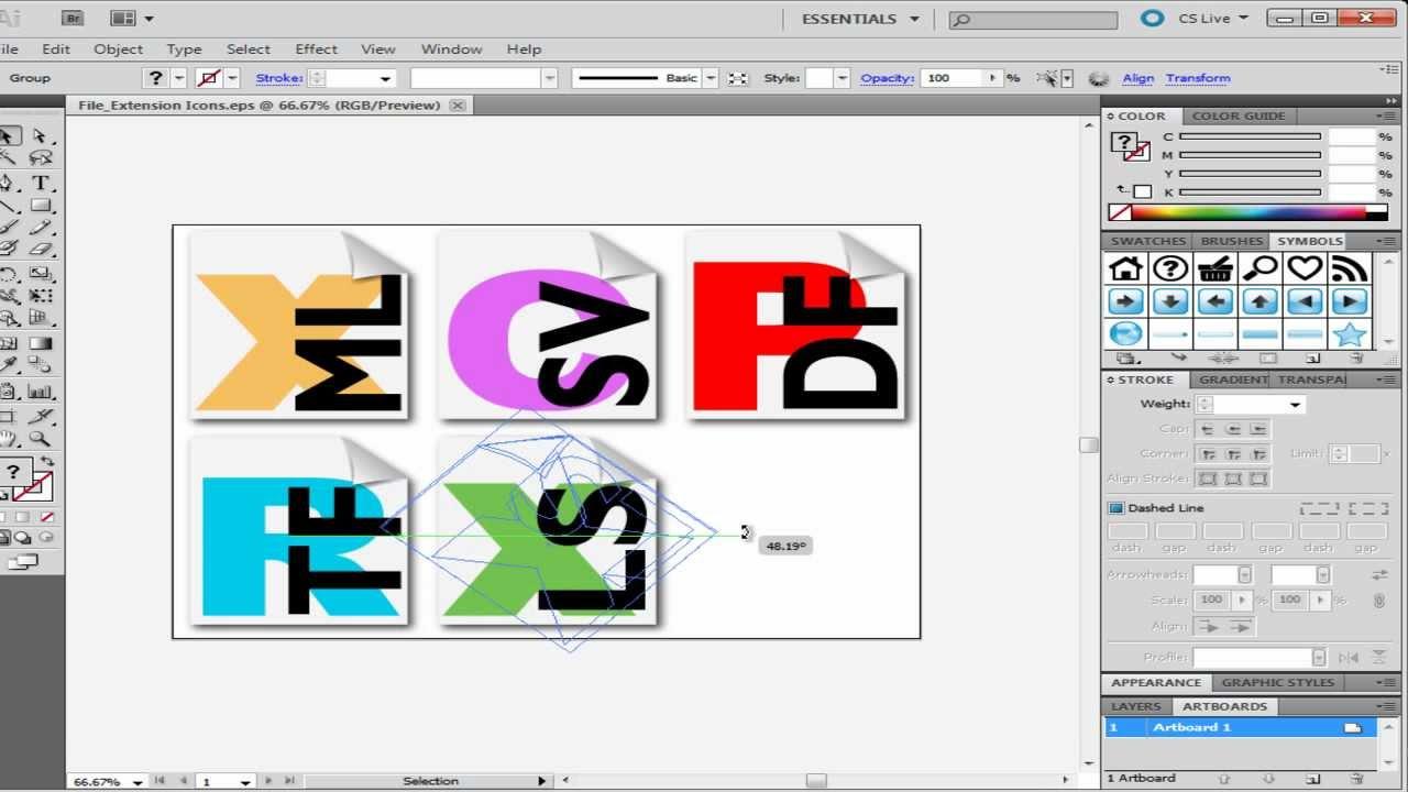 bounding box definition illustrator