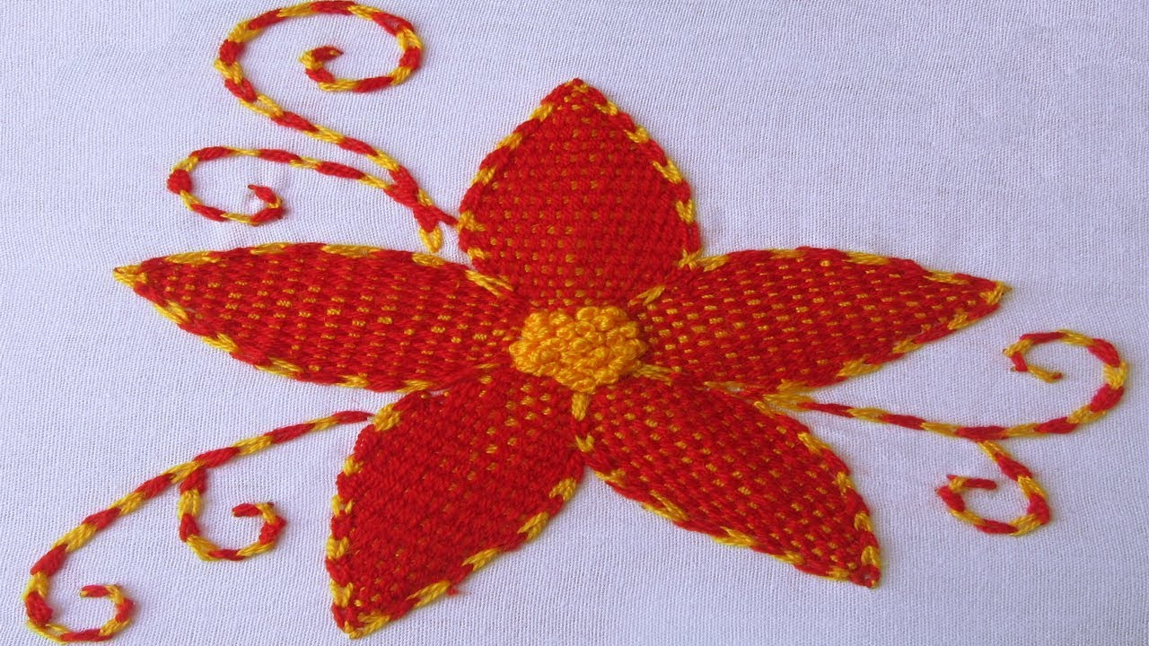 Hand embroidery designs burden stitch with french knot