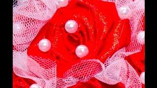 Как сделать красивую розу из атласной ленты мастер класс, цветы из ткани(В этом видео вы увидите пошаговую видеоинструкцию как сделать красивую розу из атласной ленточки своими..., 2017-02-26T18:54:20.000Z)