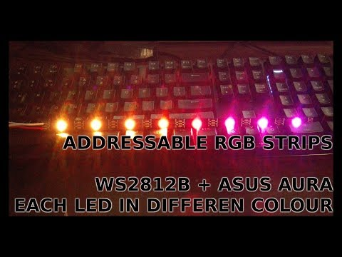 Asus Aura + WS2812B RGB addressable LED strips - overview/introduction