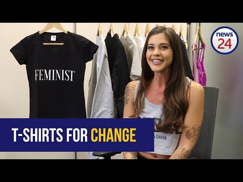 WATCH: 'T-shirts for change' - Statement t-shirts change the lives of women abuse victims