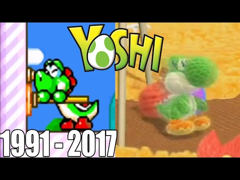 Evolution of First Levels in Yoshi Games ( 1991 - 2017)