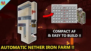 How to Build an IRON FARM in NETHER !! - Minecraft Tutorial - Nether Update Minecraft 1.16