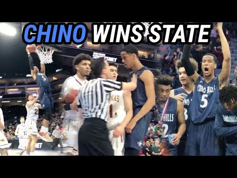 CHINO HILL WINS STATE WITHOUT LAMELO! Andre Ball SHUTS UP Fans 🏆