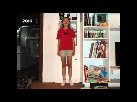 Time-lapse of growing up over 14 years