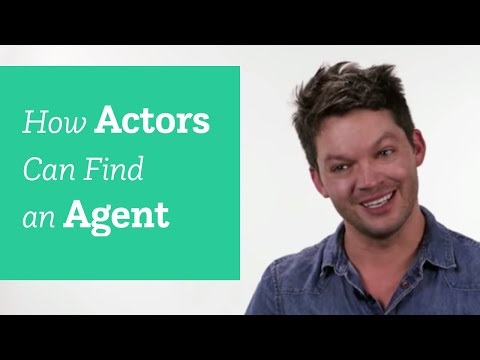 how can actors find agents