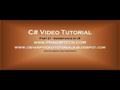 Part 21 - C# Tutorial - Inheritance in c#.avi