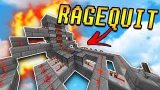 TNT CANNON Makes Him RAGEQUIT!   Minecraft TNT WARS w/ PrestonPlayz & LandonMC