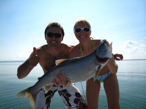 Lake Trout Fishing Cold Lake Alberta With Down Riggers Part - 1