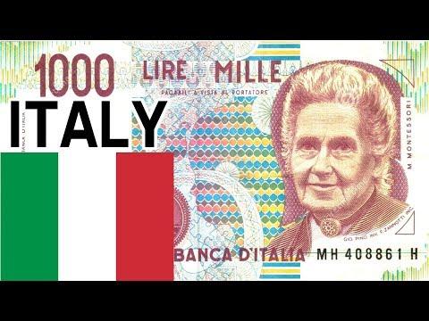 1000 Italian Lire Maria Montessori