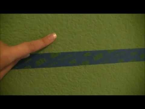 jaylaru tutorial how to paint perfect stripes on textured wall