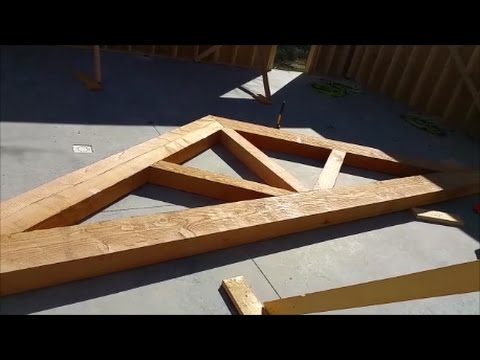 Building Huge Douglas Fir Trusses Wow These Are Going To