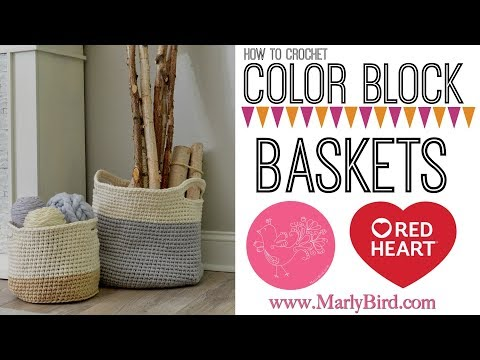 How to Crochet Hygge Color Block Baskets