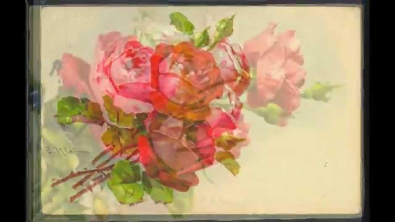 CATHARINA KLEIN -Artiste Peintre-Cartes Postales Anciennes- Les Fleurs- Flowers - Old Postcards ...
