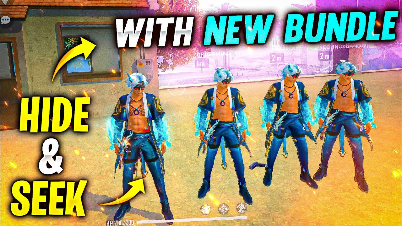 Clash Squad HIDE and SEEK with Azure Stormbringer Bundle🔥 - Rampage New Dawn - Garena Free Fire