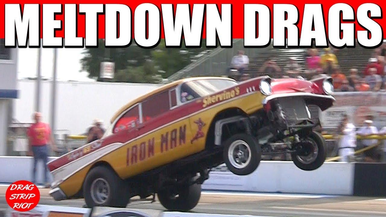 2017 Meltdown Drags Gasser 1/4 Mile Drag Racing Cars Old School ...