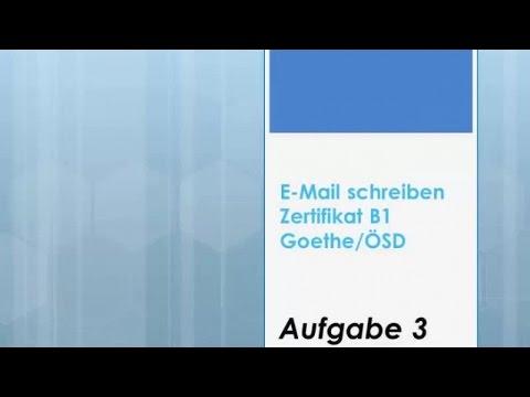 ZB1 Goethe/ÖSD Offizielle E-Mail Schreiben Einladung Absagen