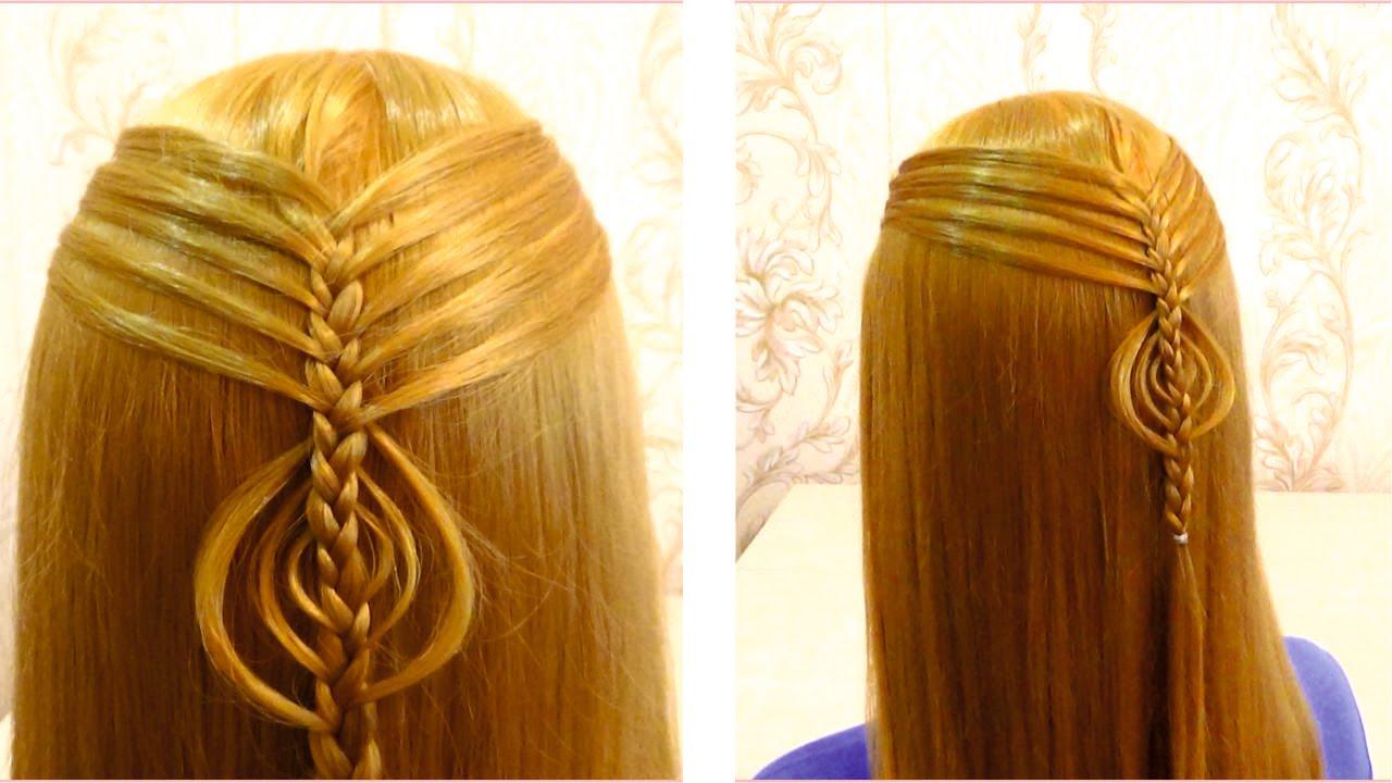 прически в школу для средних волос фото