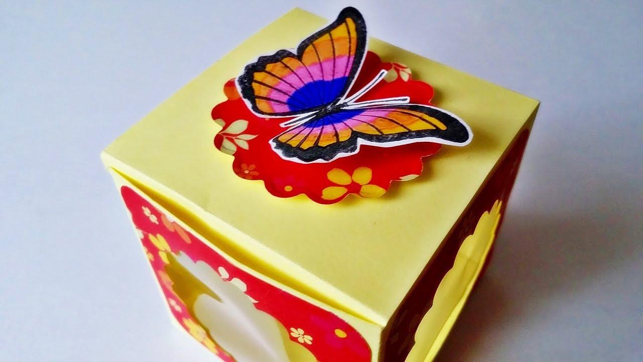 basteln box mit sichtfenster geschenkbox selber machen. Black Bedroom Furniture Sets. Home Design Ideas