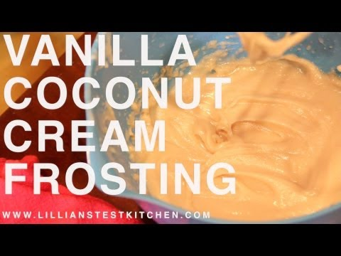 Vanilla Coconut Cream Frosting (Paleo, GAPS, Dairy-free, Soy-free, Refined Sugar-free)