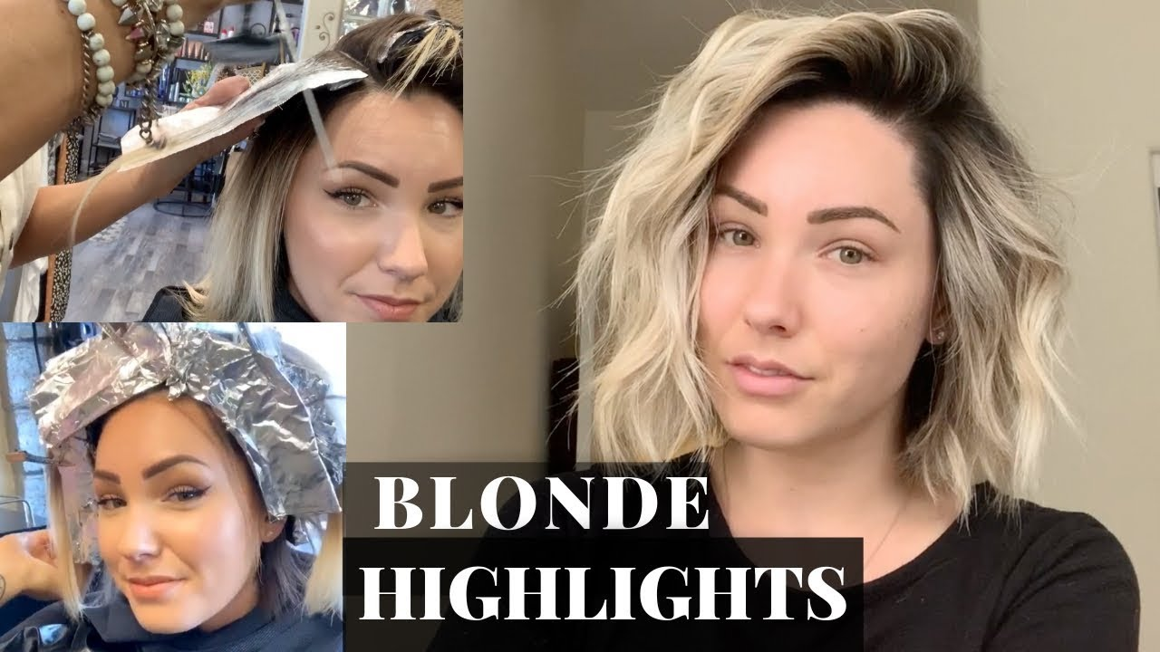 Blonde Highlights With Shadow Root Youtube