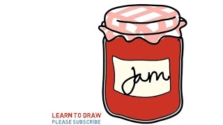 Easy Step For Kids How To Draw a Strawberry Jam