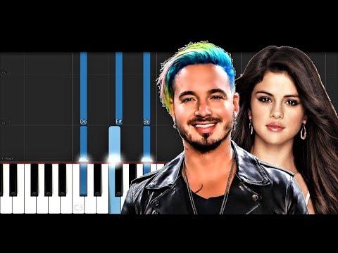 Benny Blanco Tainy Selena Gomez J Balvin - I Can&39;t Get Enough Piano Tutorial
