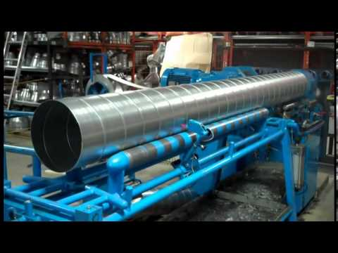 Spiral Duct Fabrication Youtube