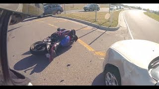 Extremely Close Calls, Road Rage, Crashes, Angry People & Scary Motorcycle Accidents  EP #91]