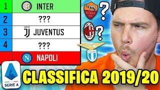 Come SarÀ La Classifica Della Serie A 2019/2020??